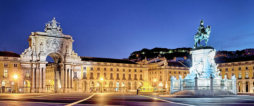 Lisbon - Commerce Square by Night