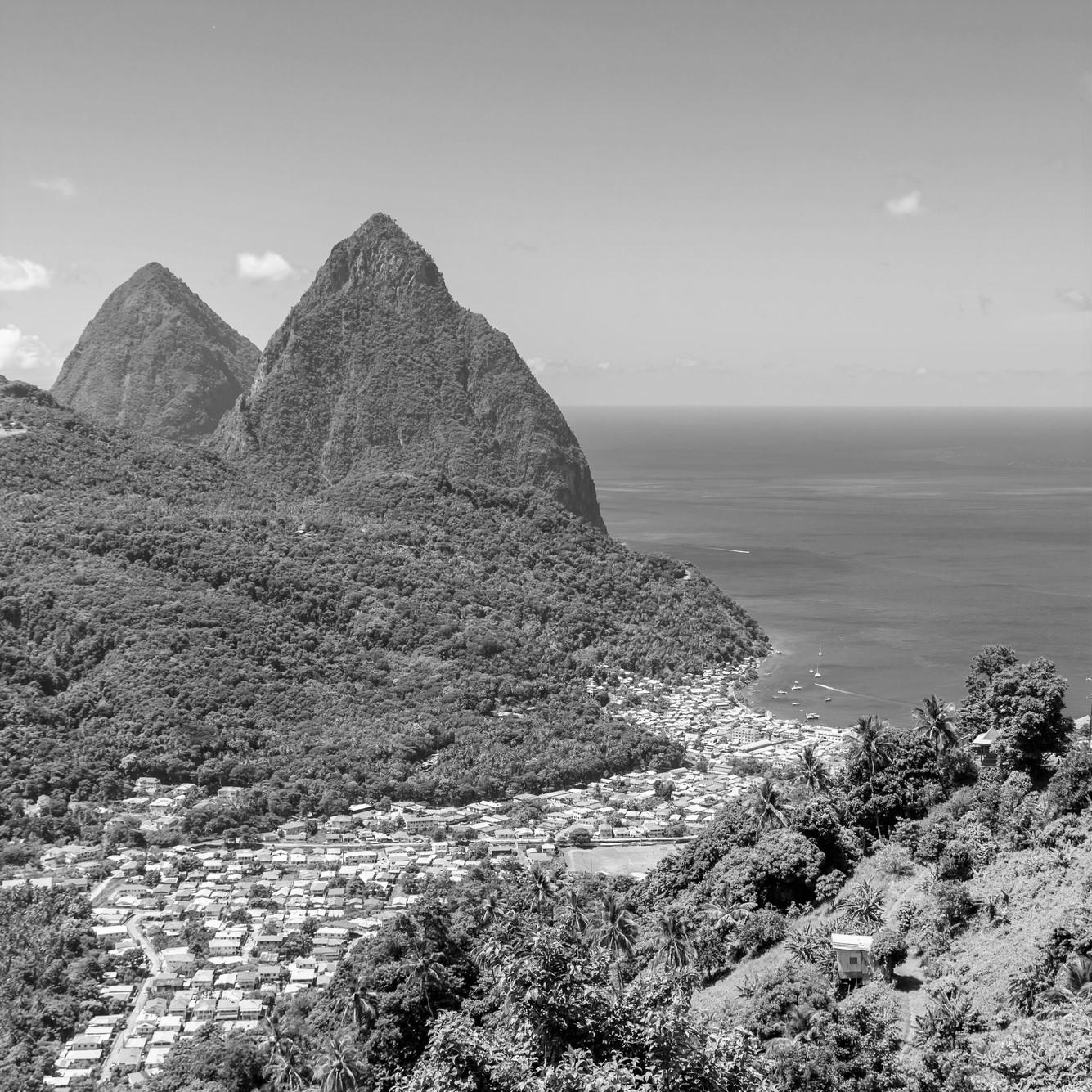 St Lucia Landscape BW